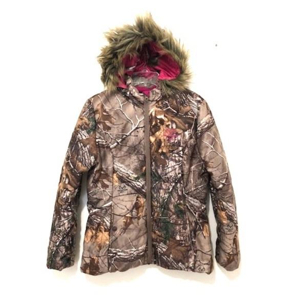 24e1b5d747c9c Realtree Jackets & Coats | Xtra Camo Bubble Jacket W Faux Fur Hood ...